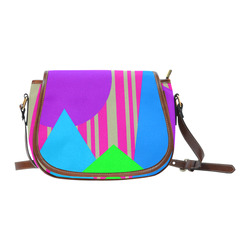 Colours and Shapes Saddle Bag/Large (Model 1649)