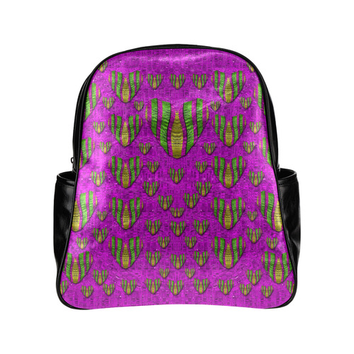 Love in colors and heart in rainbows Multi-Pockets Backpack (Model 1636)