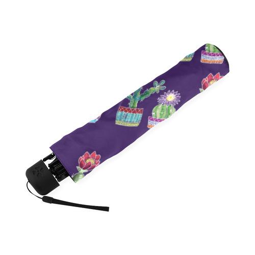 Cute Cactus Blossom Foldable Umbrella (Model U01)