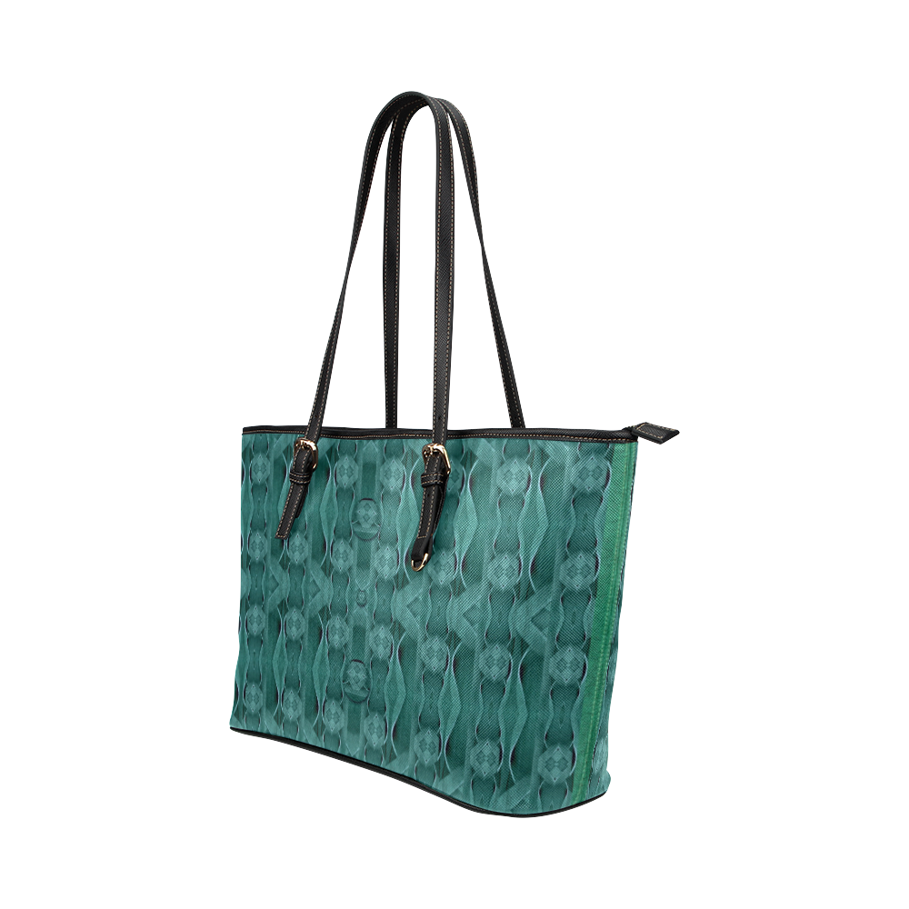 Celtic gothic knots in pop art Leather Tote Bag/Small (Model 1651)