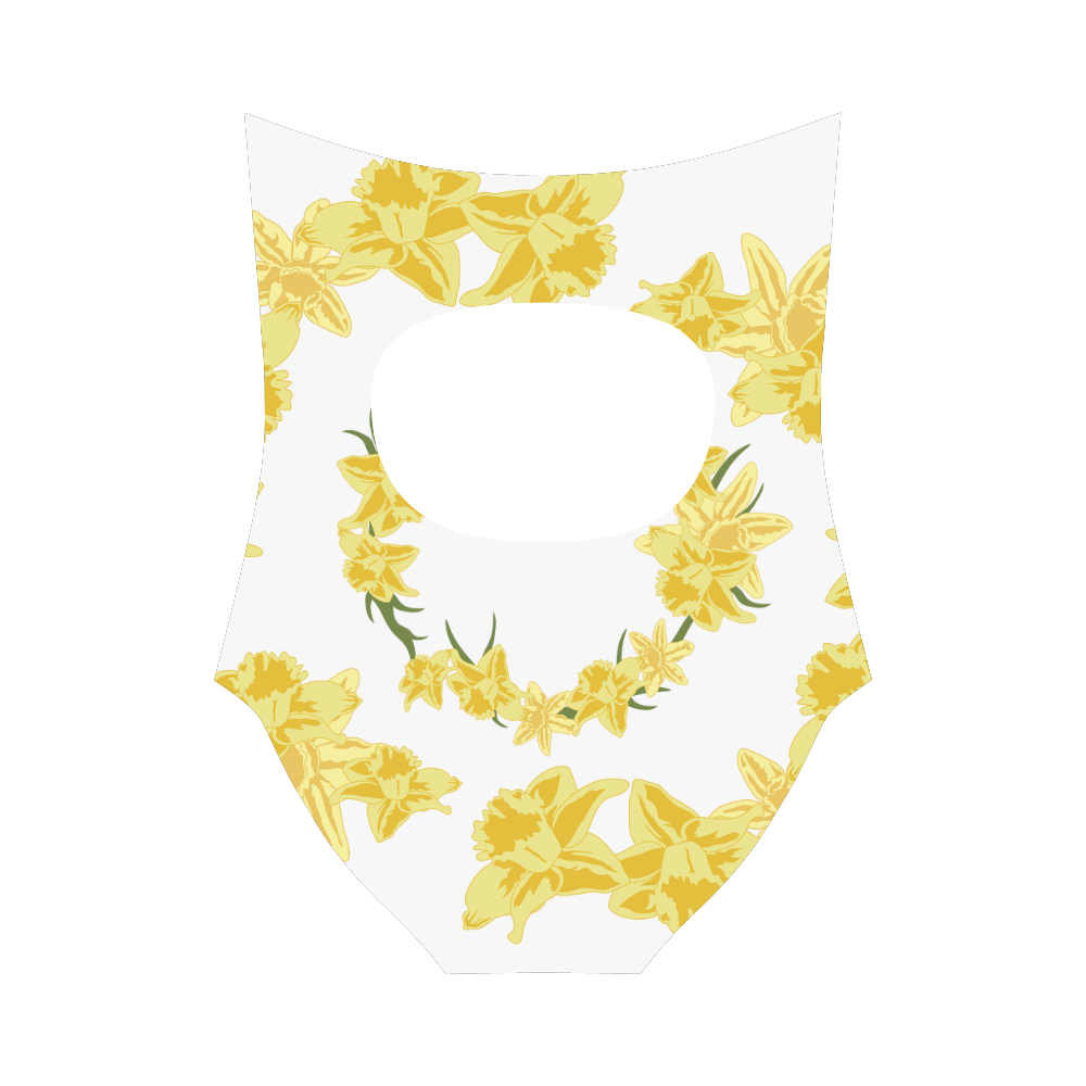 Daffodils Strap Swimsuit ( Model S05)