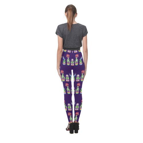 Cute Cactus Blossom Cassandra Women's Leggings (Model L01)