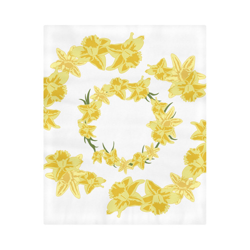 """Daffodils Duvet Cover 86""""x70"""" ( All-over-print)"""