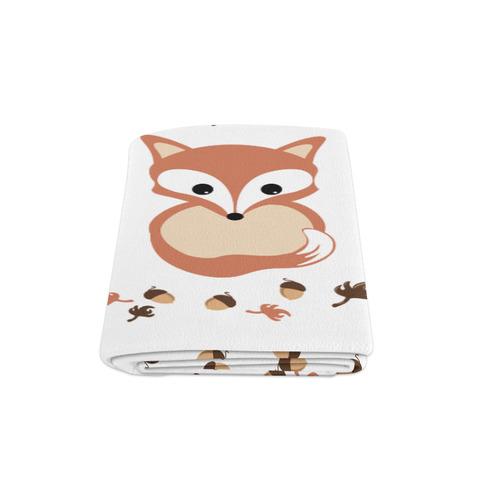 """Fox in autumn Blanket 58""""x80"""""""