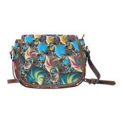 awesome fractal 33D Saddle Bag/Small (Model 1649) Full Customization
