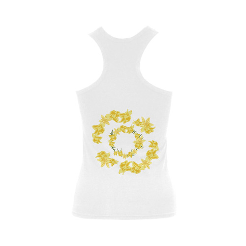 Daffodils Women's Shoulder-Free Tank Top (Model T35)
