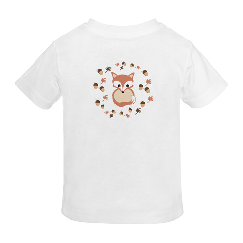 Fox in autumn Sunny Youth T-shirt (Model T04)