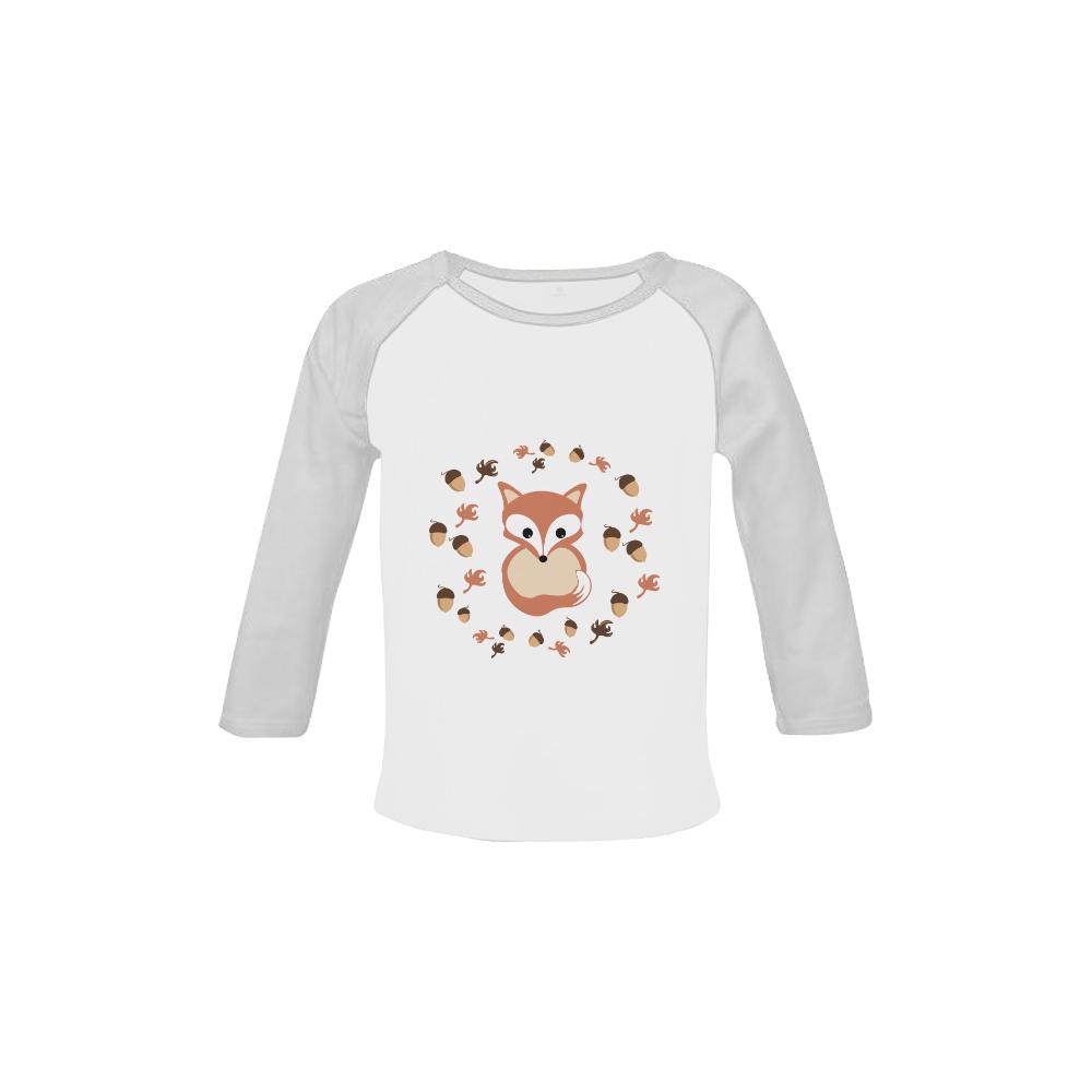 Fox in autumn Baby Organic Long Sleeve Shirt (Model T31)