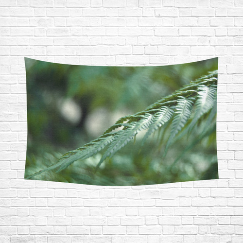 """Nature green Cotton Linen Wall Tapestry 90""""x 60"""""""
