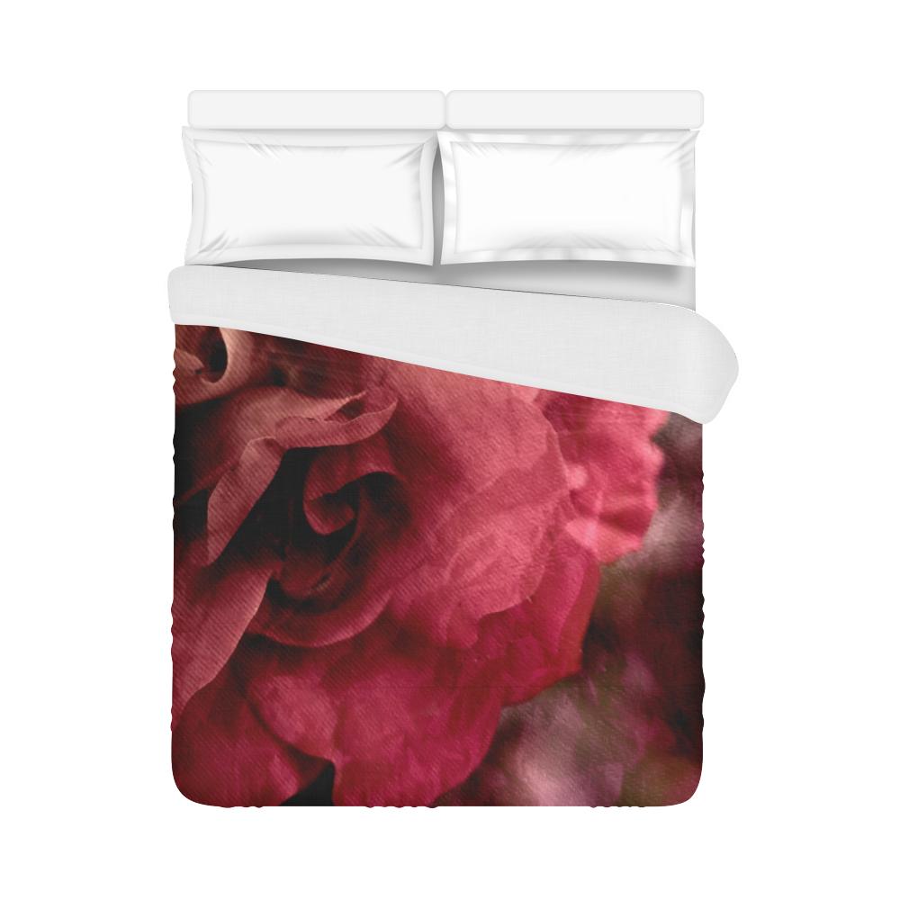 """Rose Duvet Cover 86""""x70"""" ( All-over-print)"""