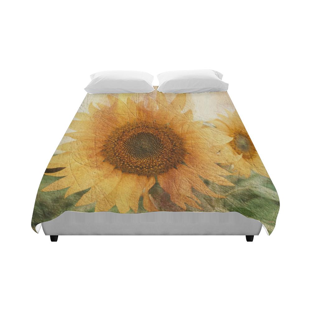 """Sunflowers Duvet Cover 86""""x70"""" ( All-over-print)"""
