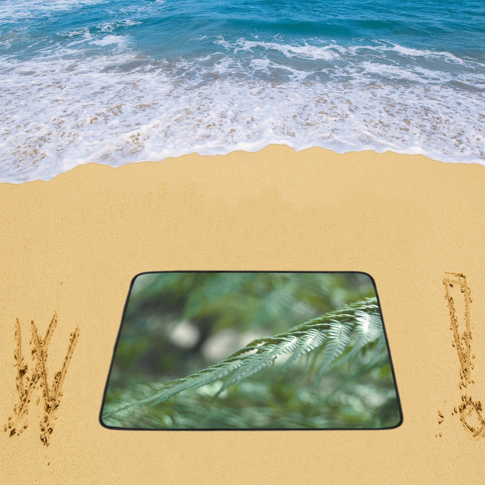 "Nature green Beach Mat 78""x 60"""