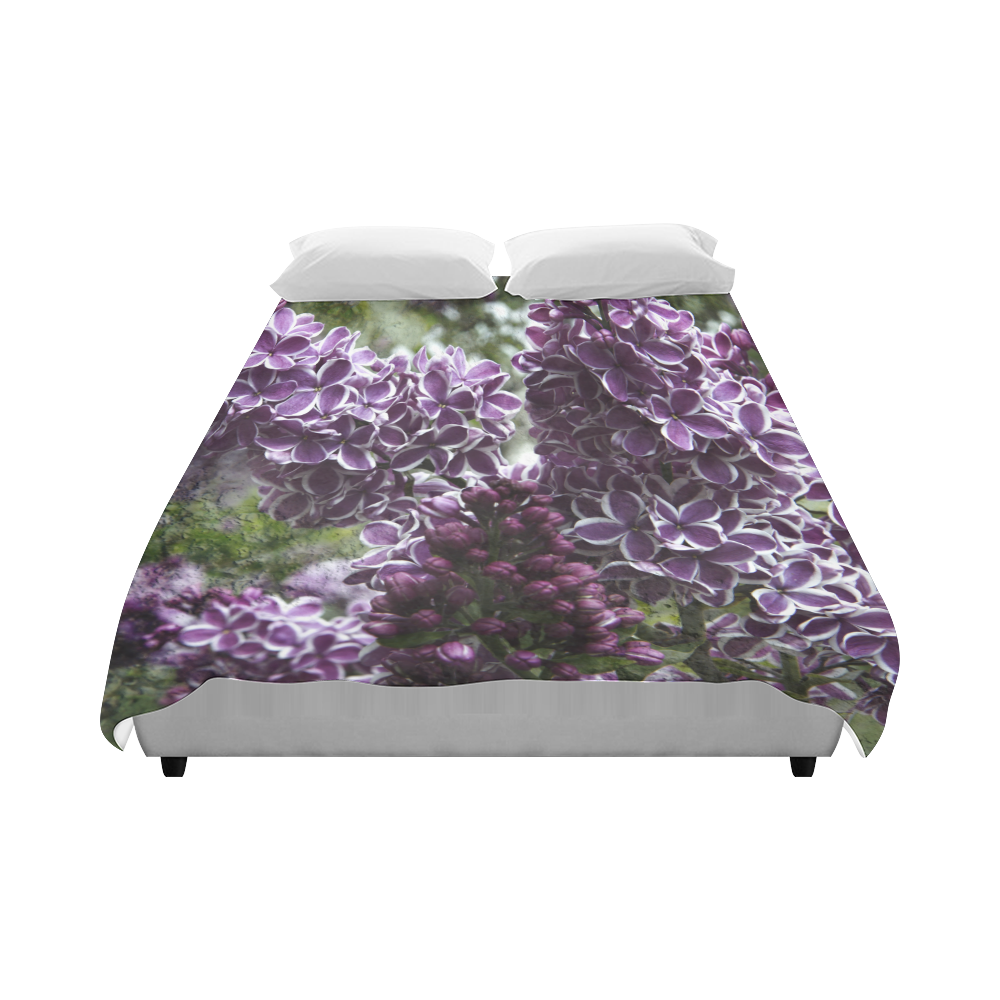 """Lilac flowers Duvet Cover 86""""x70"""" ( All-over-print)"""