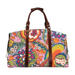 Vintage Floral Colorful Cute Pattern Classic Travel Bag (Model 1643)