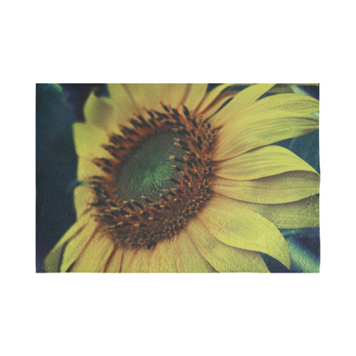 "Sunflower Cotton Linen Wall Tapestry 90""x 60"""