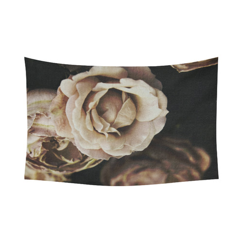 "Roses in autumn Cotton Linen Wall Tapestry 90""x 60"""