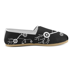 Mechanical Flowers Unisex Casual Shoes (Model 004)