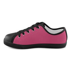 Raspberry Sorbet Canvas Kid's Shoes (Model 016)