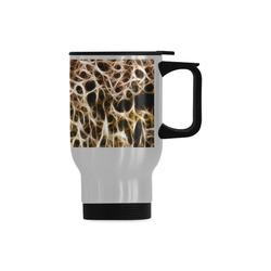 Misty Fur Coral - Jera Nour Travel Mug (Silver) (14 Oz)
