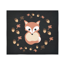"Fox in autumn Cotton Linen Wall Tapestry 60""x 51"""