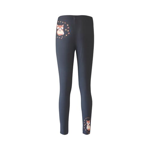 Fox in autumn Cassandra Women's Leggings (Model L01)