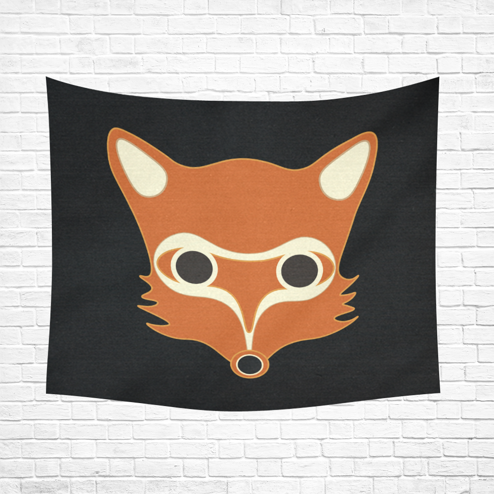 "Fox Cotton Linen Wall Tapestry 60""x 51"""