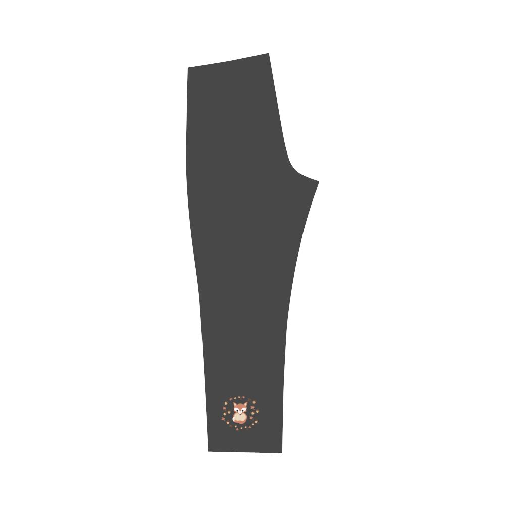 Fox in autumn Capri Legging (Model L02)