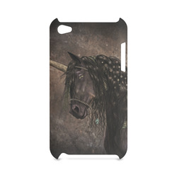 Dreamy Unicorn with brown grunge background Hard Case for iPod Touch 4