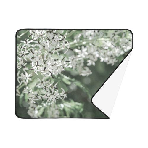 """spring flowers Beach Mat 78""""x 60"""""""