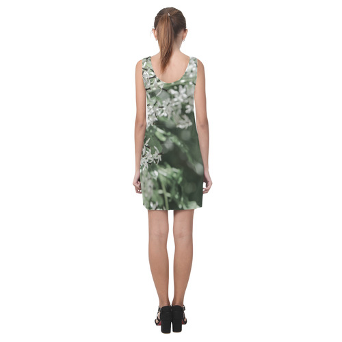 spring flowers Helen Sleeveless Dress (Model D10)