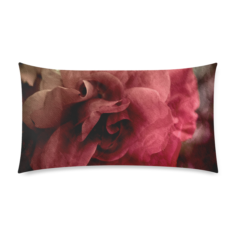"""Rose Rectangle Pillow Case 20""""x36""""(Twin Sides)"""