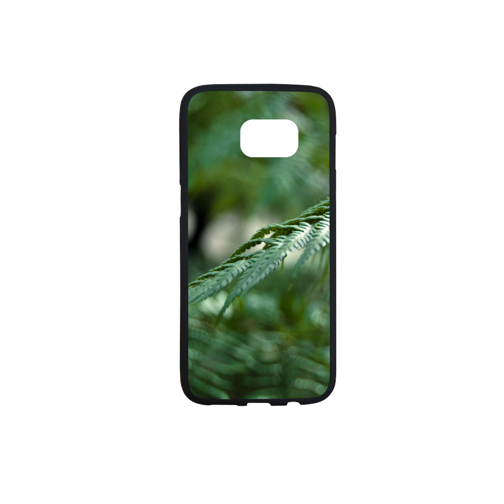 Nature green Rubber Case for Samsung Galaxy S7 edge