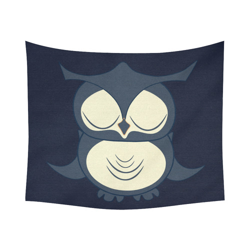 "Owl Cotton Linen Wall Tapestry 60""x 51"""