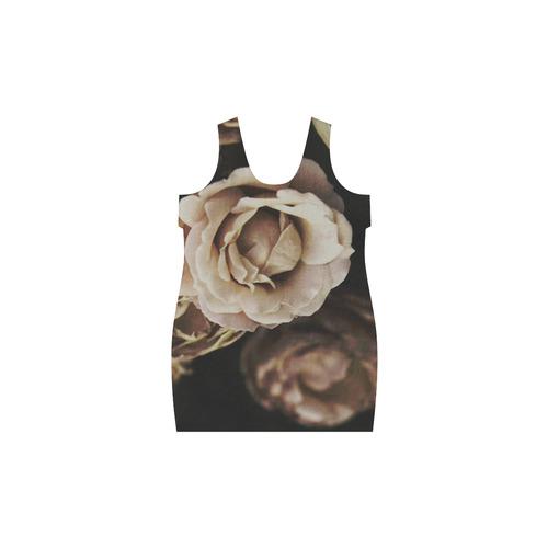 Roses in autumn Helen Sleeveless Dress (Model D10)