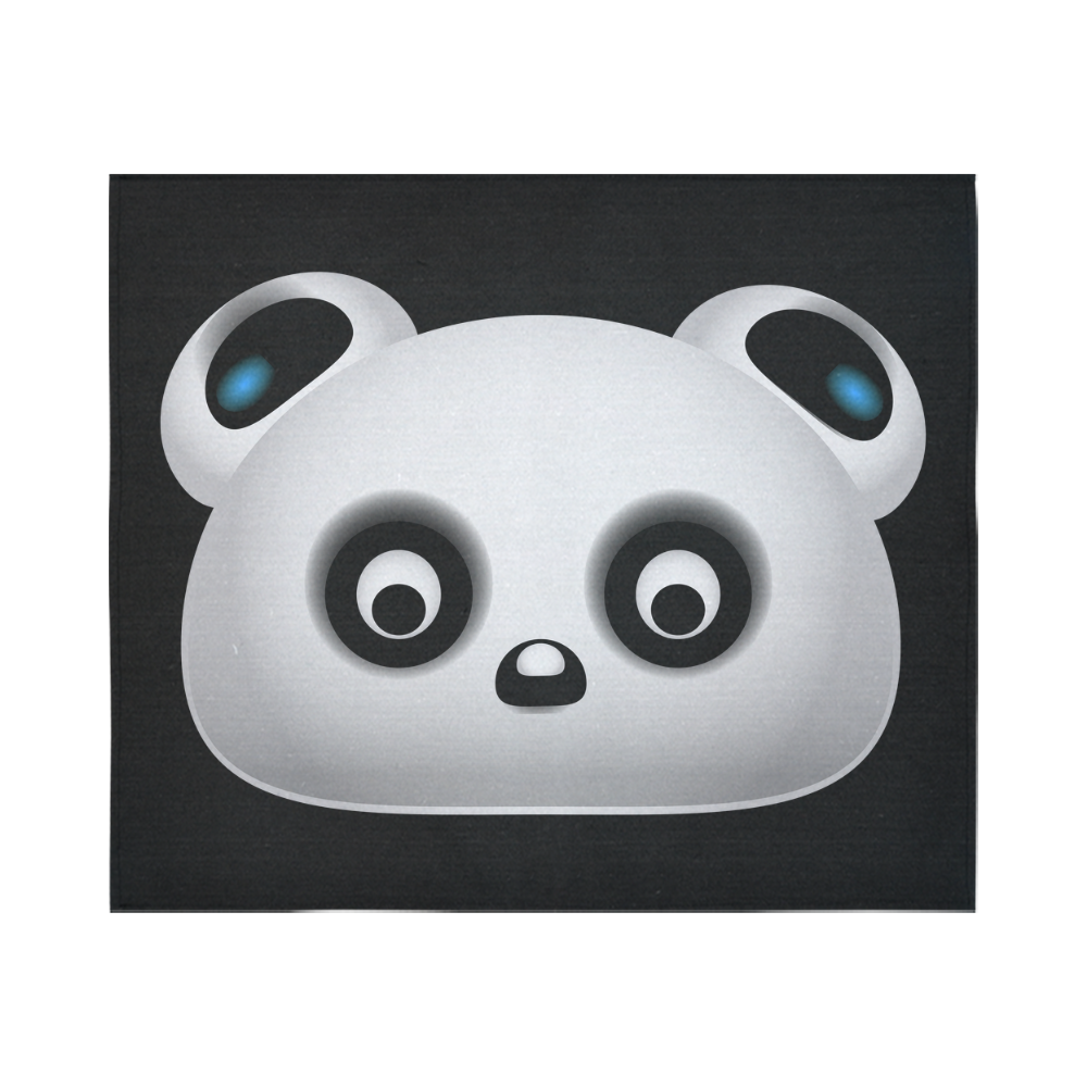 "Panda Bear Cotton Linen Wall Tapestry 60""x 51"""