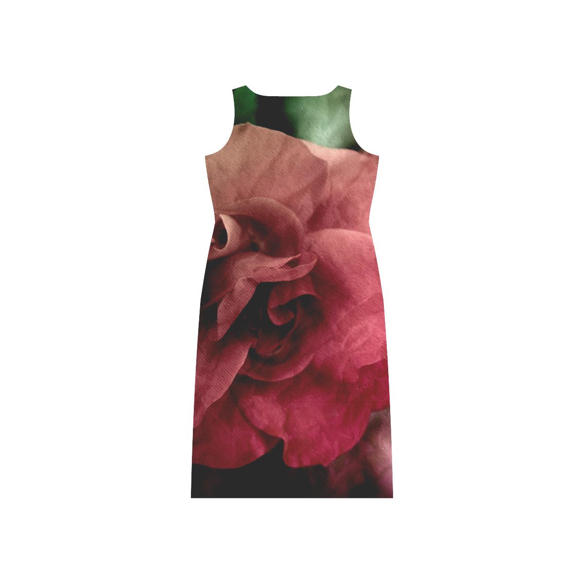 Rose Phaedra Sleeveless Open Fork Long Dress (Model D08)