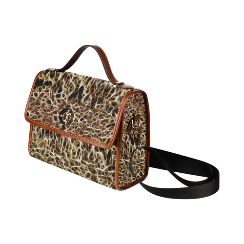 Misty Fur Coral - Jera Nour Waterproof Canvas Bag/All Over Print (Model 1641)