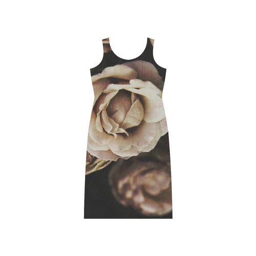 Roses in autumn Phaedra Sleeveless Open Fork Long Dress (Model D08)