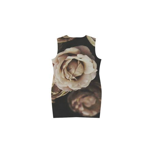 Roses in autumn Phoebe Sleeveless V-Neck Dress (Model D09)