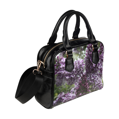 Lilac flowers Shoulder Handbag (Model 1634)
