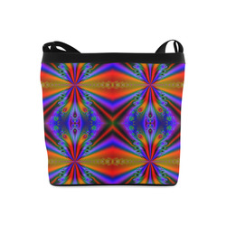 Peacock Feathers at Sunset Fractal Abstract Crossbody Bags (Model 1613)