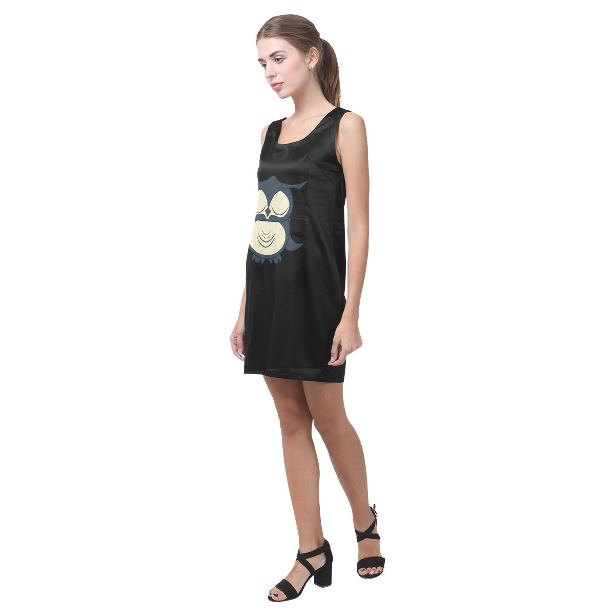 Owl Helen Sleeveless Dress (Model D10)