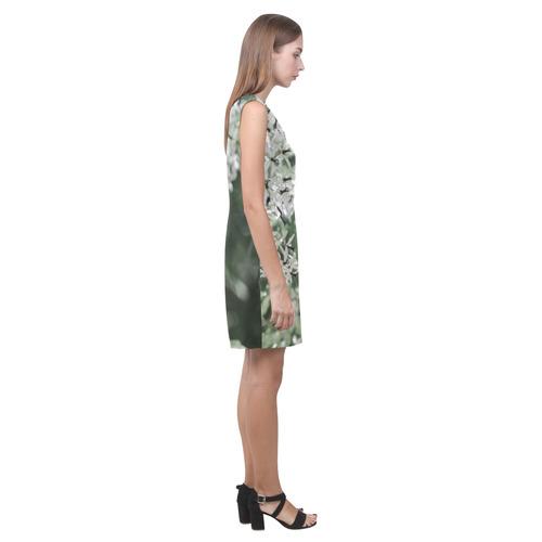 spring flowers Phoebe Sleeveless V-Neck Dress (Model D09)