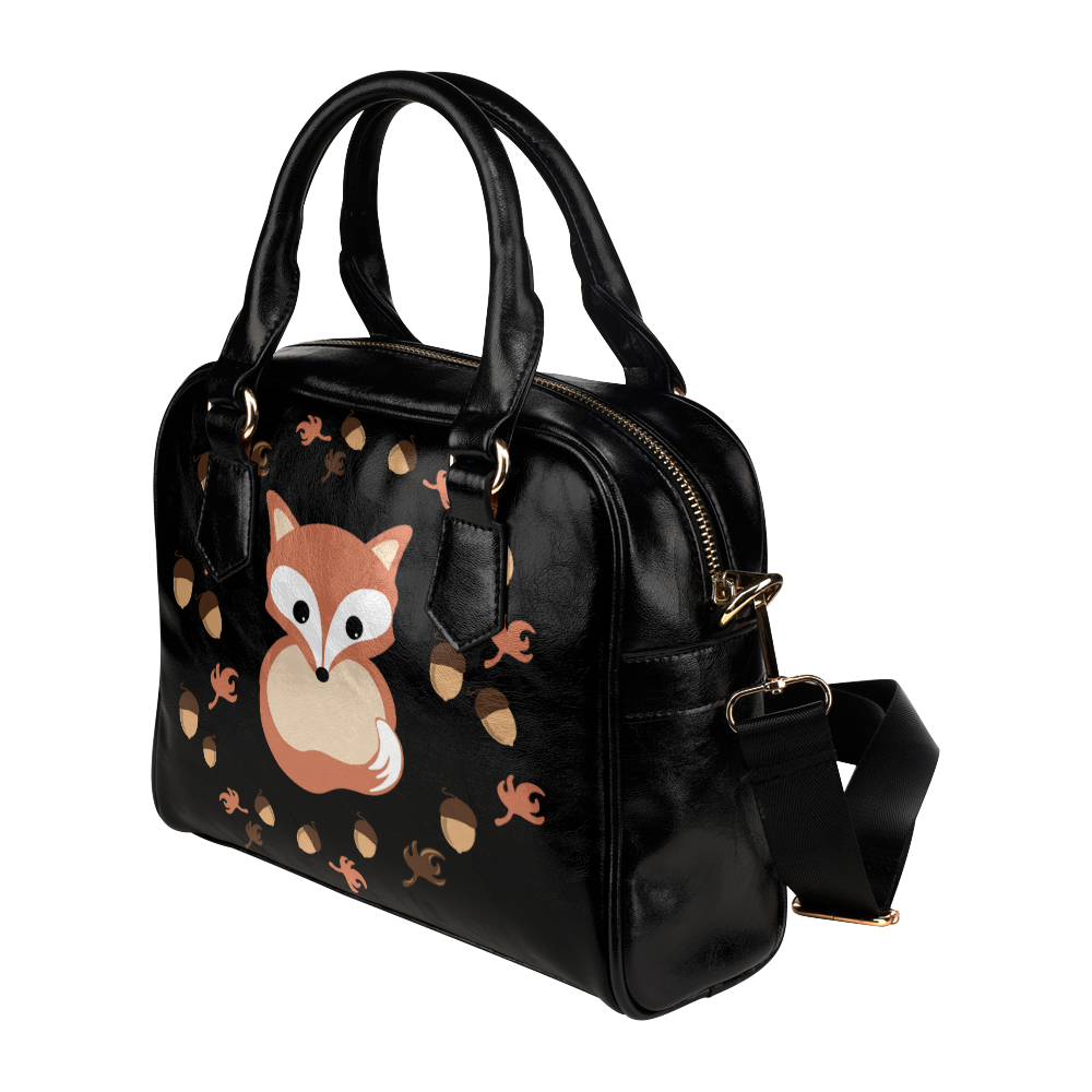 Fox in autumn Shoulder Handbag (Model 1634)