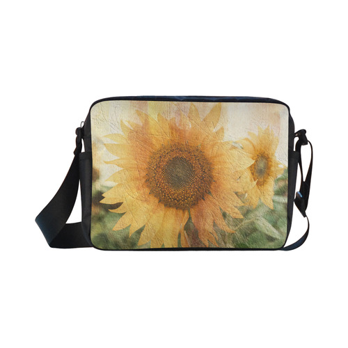 Sunflowers Classic Cross-body Nylon Bags (Model 1632)