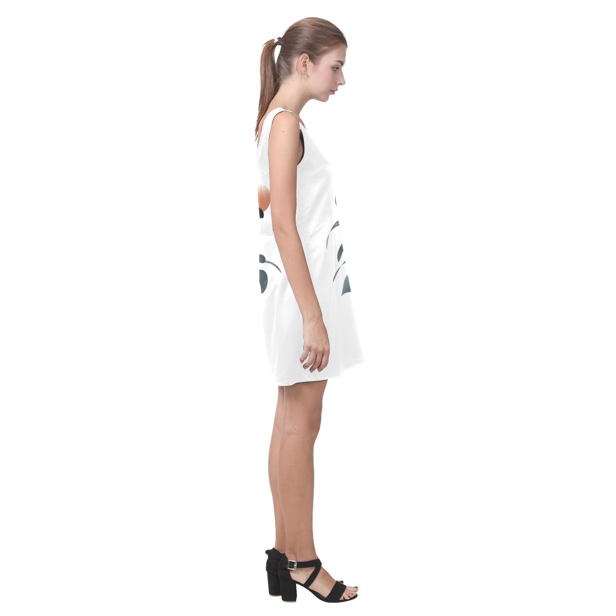 Orca illustration Helen Sleeveless Dress (Model D10)