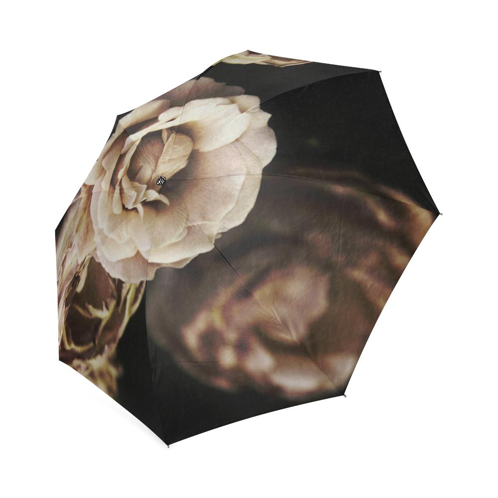Roses in autumn Foldable Umbrella (Model U01)
