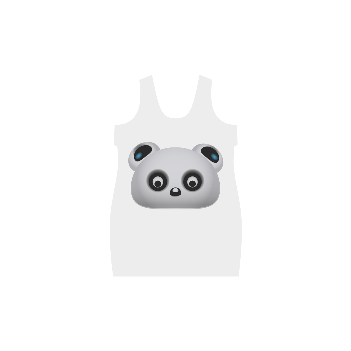 Panda Bear Helen Sleeveless Dress (Model D10)
