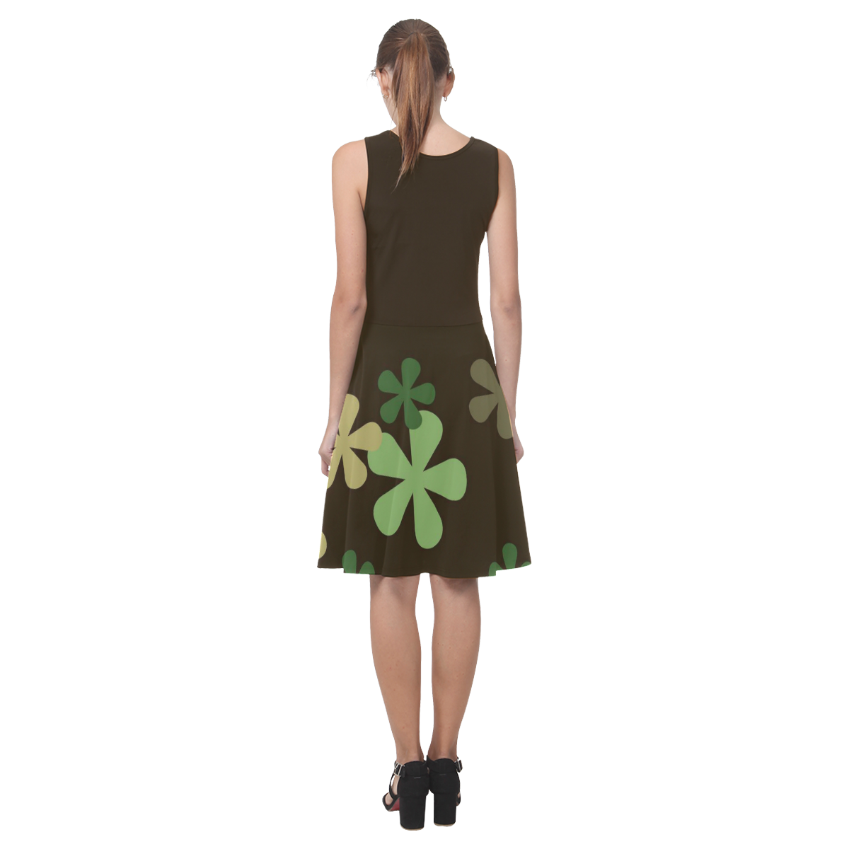 Camouflage Retro Flowers Atalanta Casual Sundress(Model D04)