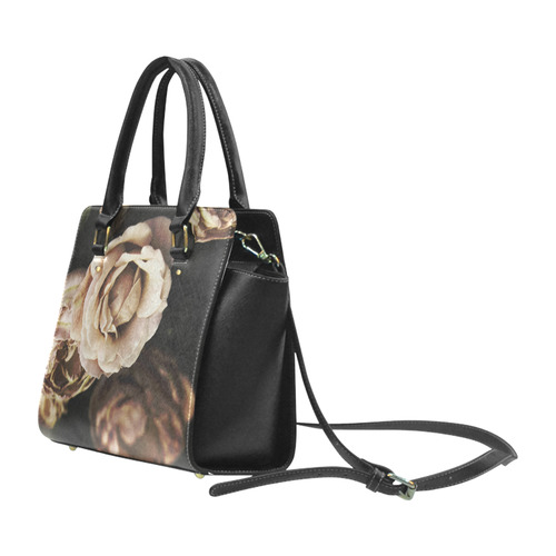 Roses in autumn Classic Shoulder Handbag (Model 1653)